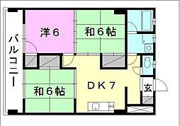 コンフォート桜 6[207 号室号室]の間取り