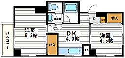 福助マンション[2階]の間取り