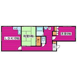 北海道札幌市東区北三十五条東12丁目の賃貸マンションの間取り