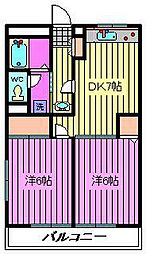 メゾン・ド・フジエール[407号室]の間取り