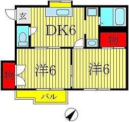 ガーデンハイツ桜台[B202号室]の間取り