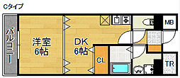 フォンテーヌ北館・南館[1階]の間取り