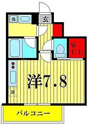 ヴェルメリオ本所 10階ワンルームの間取り