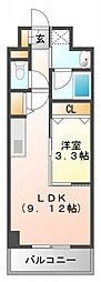 ルミネソレイユ江坂[7階]の間取り