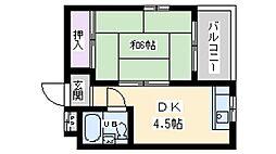 第3美松苑[3階]の間取り