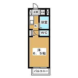 ノースビューヤサカ[2階]の間取り
