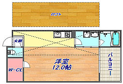Riz Court六甲[207号室]の間取り
