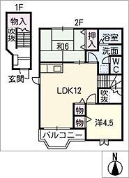 ファインスプリング B棟[2階]の間取り
