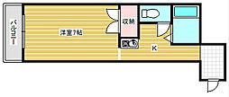 ジュネス田村[4階]の間取り