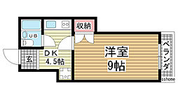 稗原マンション[302号室]の間取り