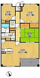 甲子園四番町パークハウス[2階]の間取り