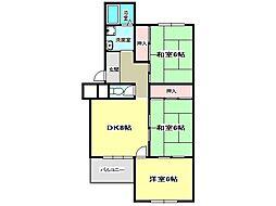 兵庫県神戸市垂水区塩屋町3丁目の賃貸マンションの間取り