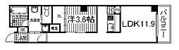 京都府京都市中京区壬生馬場町の賃貸マンションの間取り