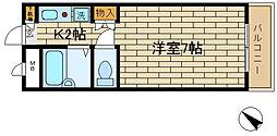 兵庫県神戸市須磨区須磨本町2丁目の賃貸マンションの間取り