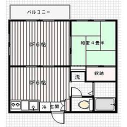 東京都世田谷区上祖師谷2丁目の賃貸アパートの間取り