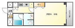 ハイムタケダT-10[5階]の間取り