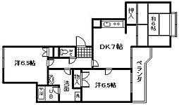 フィアテル岸和田[602号室]の間取り