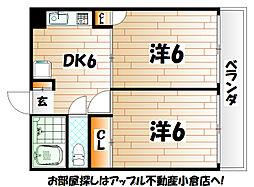 シャトレ別院III[4階]の間取り