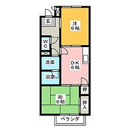 Surplus塚本 B[2階]の間取り