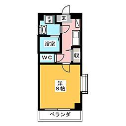 ラシュレ日光[3階]の間取り