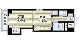 ノルデンハイム今福[406号室]の間取り