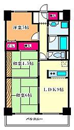 リブラン新北野[5階]の間取り