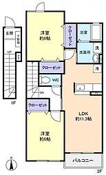 ポラリスハウスII[2階]の間取り