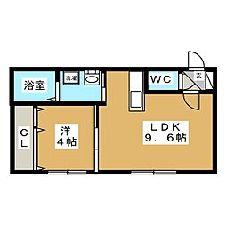 fainy lulu[4階]の間取り