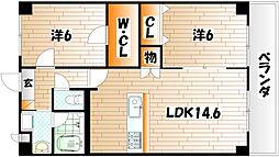 Merveille Ishida[3階]の間取り
