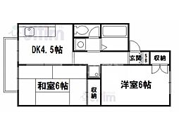 セジュール藤木[2階]の間取り