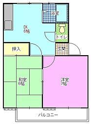 タートルハイツ[1階]の間取り