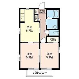 グランメール松戸[1階]の間取り
