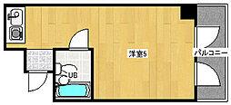 大阪府高石市綾園1丁目の賃貸マンションの間取り