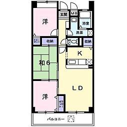 メゾン桜[302号室]の間取り