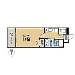 ラグナガーデン亀川[4階]の間取り