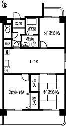 愛知県岡崎市久後崎町の賃貸マンションの間取り