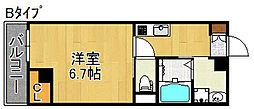 L'ecrin KISINOSATOHIGASI[7階]の間取り