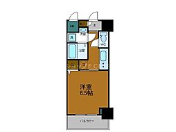Osaka Metro千日前線 鶴橋駅 徒歩2分の賃貸マンション 9階1Kの間取り