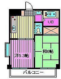 インフォートマンション[410号室]の間取り