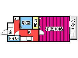 JR仙石線 榴ヶ岡駅 徒歩15分の賃貸マンション 1階1Kの間取り