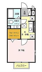 東京都八王子市本町の賃貸アパートの間取り