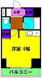 静岡県浜松市中区紺屋町の賃貸マンションの間取り