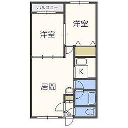 プリンス札幌[4階]の間取り