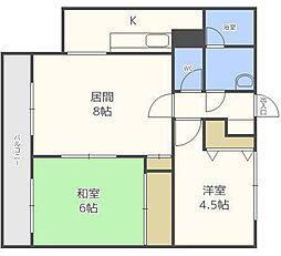 MRハウス[3階]の間取り