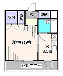 東京都西東京市田無町6丁目の賃貸マンションの間取り