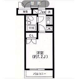 スカイヒル生田[206号室]の間取り