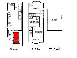 [一戸建] 神奈川県川崎市川崎区小田2丁目 の賃貸【/】の間取り