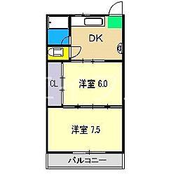 藤本マンション[3階]の間取り