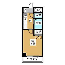 愛知県名古屋市港区金船町1丁目の賃貸マンションの間取り