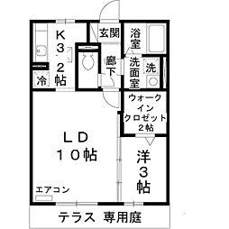 兵庫県姫路市苫編の賃貸アパートの間取り